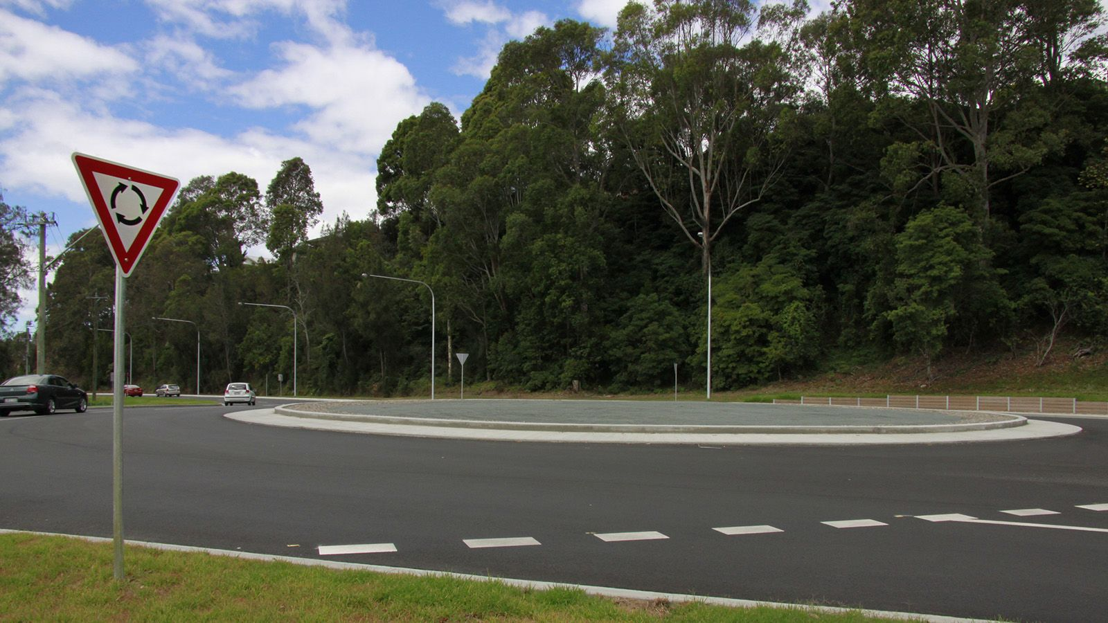 A photograph of the roundabout near Hanging Rock, on Beach Road banner image