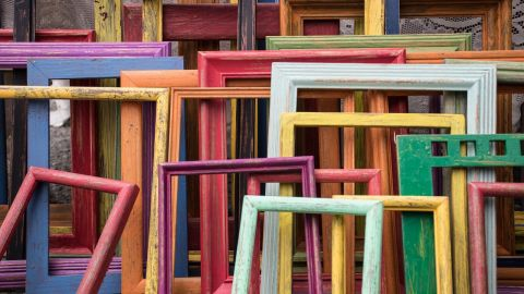 Empty coloured frames