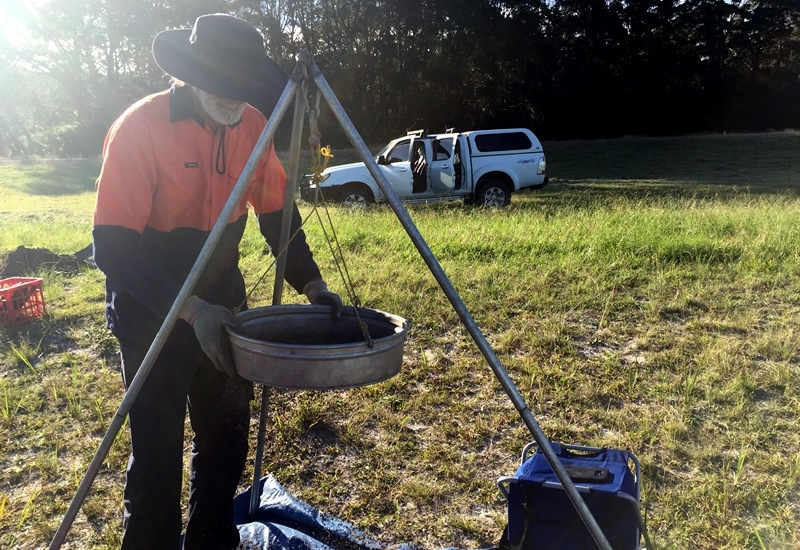Archaeological test pitting on airport redevelopment lands