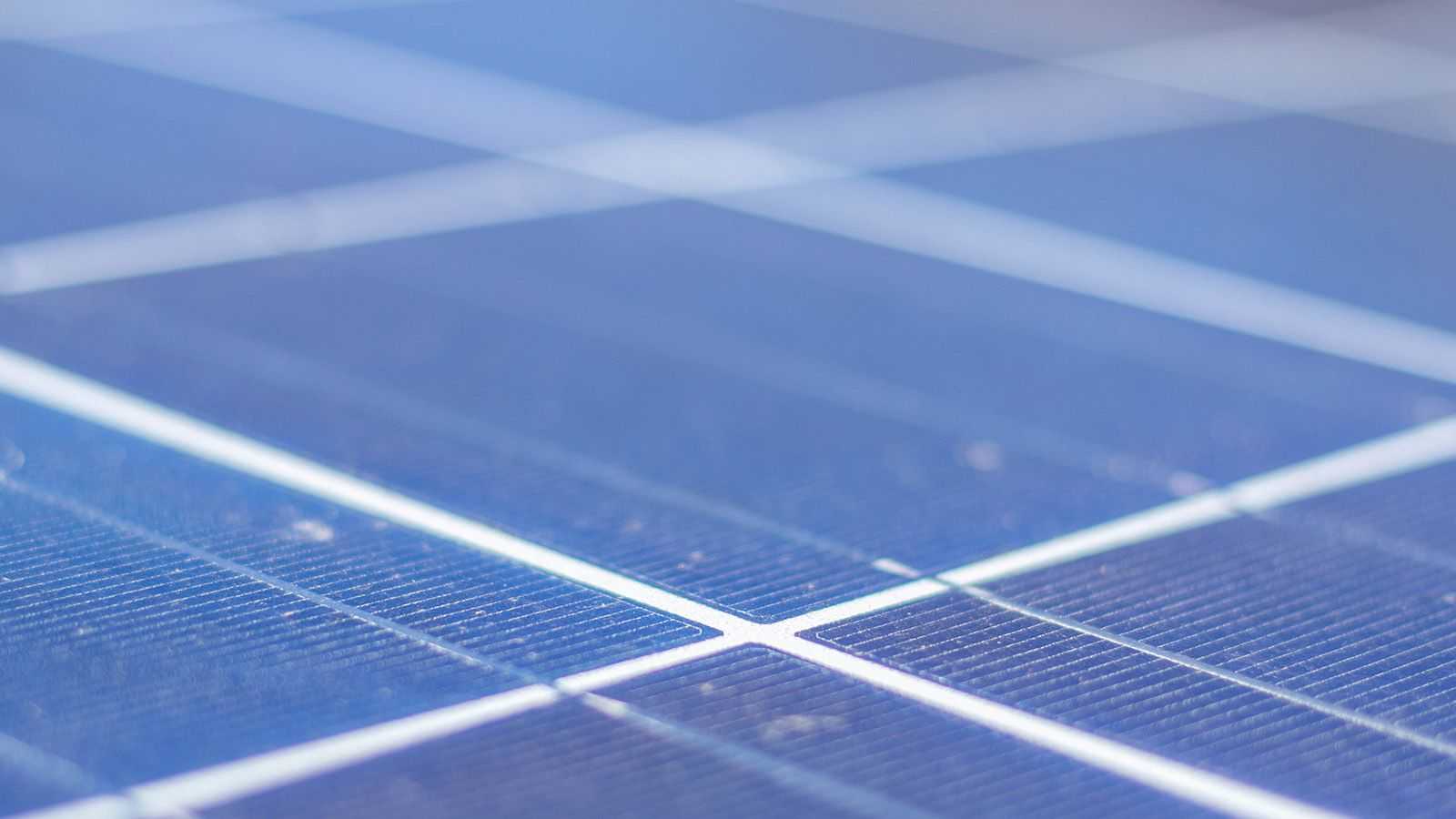 Close cropped photograph of solar panels banner image