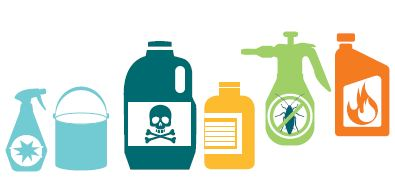 Image of hazardous waste that will be accepted by Council