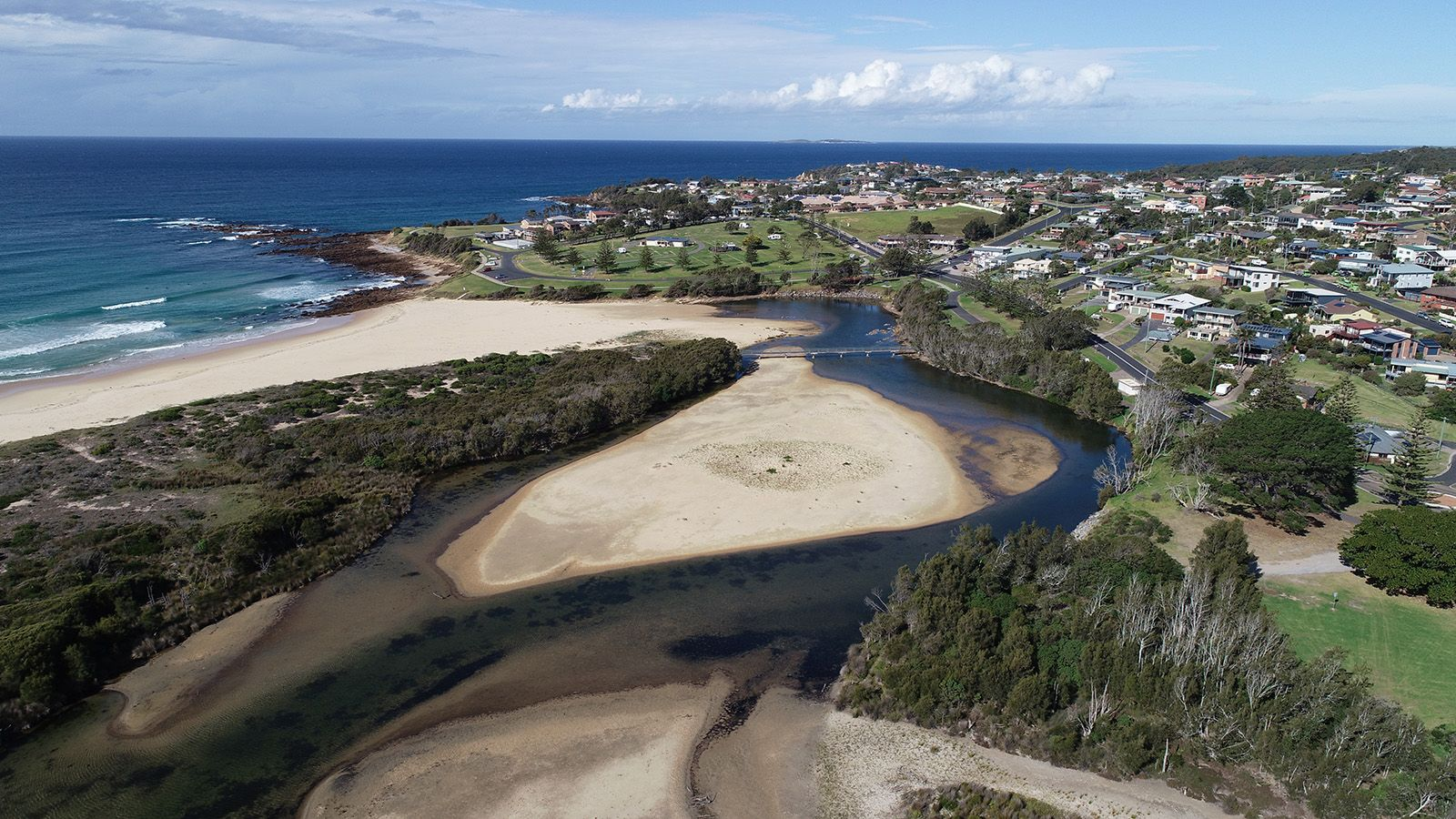 Aerial photograph of coastal areas near Tuross banner image