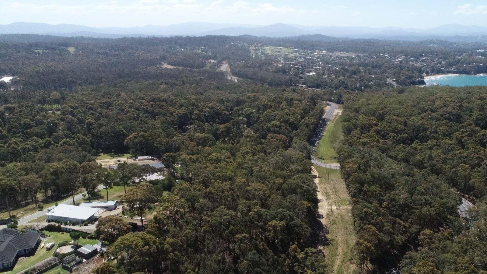 Aerial view of bushfire prone land in Eurobodalla Shire banner image