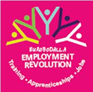 Employment Revolution logo: training, apprenticeships, jobs.