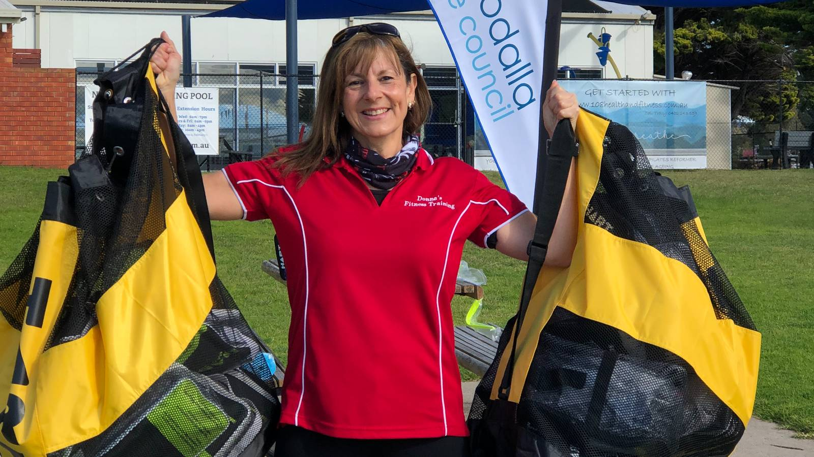 Donna McLean ready to teach free fitness classes on Narooma foreshore