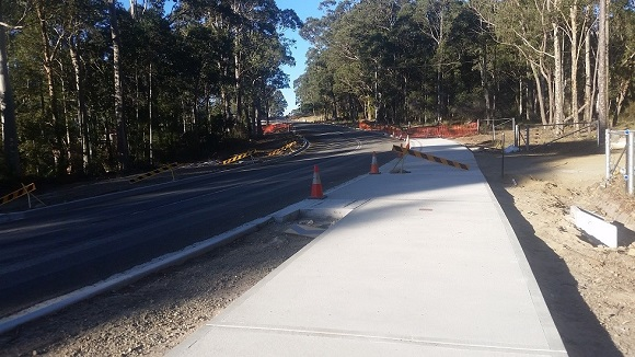Looking east towards The Anchorage.  Noe the work required to accommodate driveways and stormwater line extension
